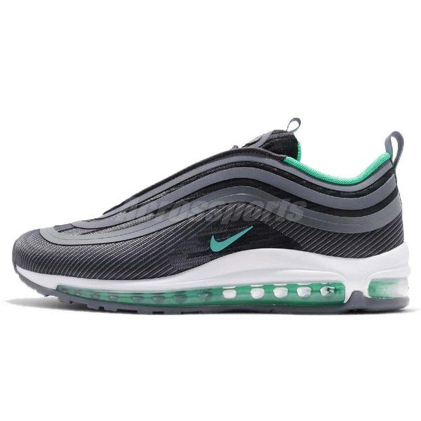 【六折特賣】Nike 休閒慢跑鞋 Air Max 97 UL 17 黑 綠 白底 氣墊 反光 男鞋 復古外型【PUMP306】 918356 009