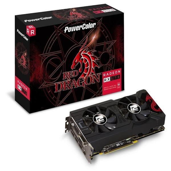 撼訊AXRX570 4GBD5-3DHDV2/OC RedDragon 4G GDDR5 256bit AMD顯示卡