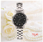 瑞士 TRUE 瑞時寶嘉  TC150179 威尼斯水波紋晶鑽腕錶 /30mm (黑)