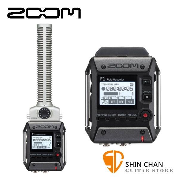 Zoom F1 台灣公司貨 / F1-SP 槍型 指向性麥克風 + 現場錄音座 / 口袋型隨身錄音機 F1SP 公司貨
