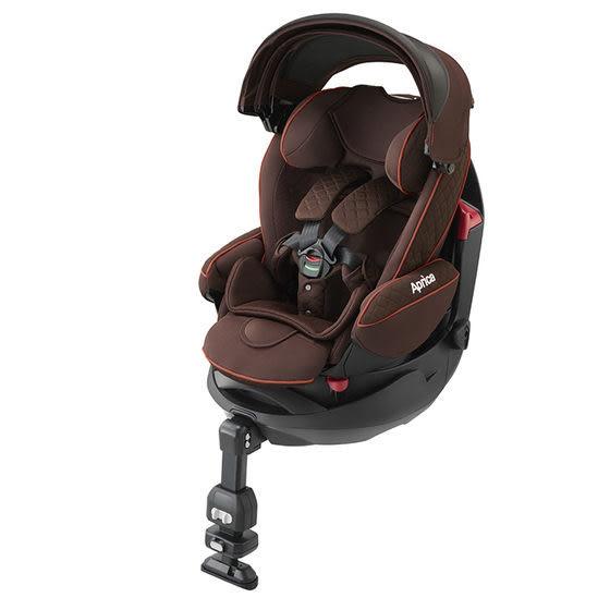 【送貝恩嬰兒柔濕巾一箱】Aprica Fladea grow HIDX 旅程系列 平躺型嬰幼兒汽車安全臥床椅 BR日初橙紅