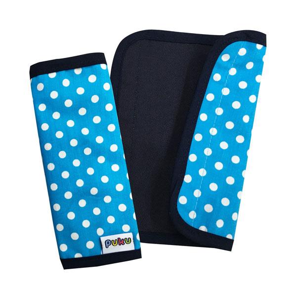 【佳兒園婦幼館】Puku 藍色企鵝 推車把手保護套2入-水點15*16cm