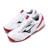 Mizuno 排羽球鞋 Cyclone Speed 2 白 黑 膠底 高抓地力 透氣 運動鞋 男鞋 女鞋【ACS】 V1GA1980-08