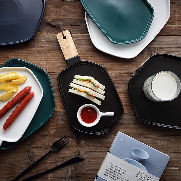 北歐風西餐盤子牛排盤點心盤菜盤家用早餐盤陶瓷餐具亞光碟子【萬聖夜來臨】