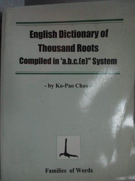 【書寶二手書T2/歷史_KQU】English Dictionary of Thousand Roots…