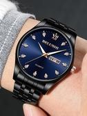 手錶 2019新款超薄防水男士石英錶手錶男學生時尚韓版簡約潮流機械男錶 米娜小鋪