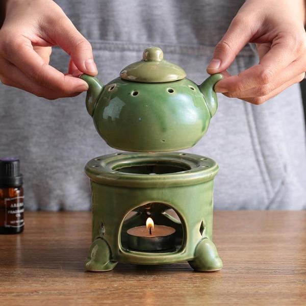 青司局外貿尾單貔貅腳茶壺款|蠟燭陶瓷香薰爐精油燈高級美容院 美眉新品