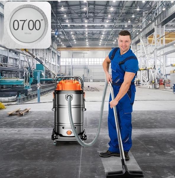 杰諾大功率強力吸水機大型工廠車間粉塵洗車酒店商用工業用吸塵器