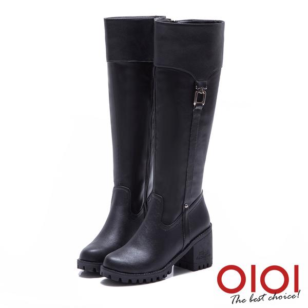 長靴 極致美型側皮帶長筒靴(黑) *0101shoes【18-1709bk】【現貨】