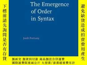 二手書博民逛書店The罕見Emergence Of Order In Synta