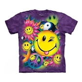 【摩達客】(現貨)美國進口The Mountain 和平與笑臉 純棉環保短袖T恤(10415045083)