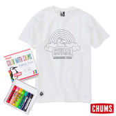 【Pentel 聯名款】CHUMS 日本 男 DIY塗鴉著色T-Shirt 彩虹款 附蠟筆 CH0107960000