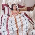 床包 / 雙人【暮晨光線-粉】含兩件枕套 100%精梳棉 戀家小舖台灣製AAS201