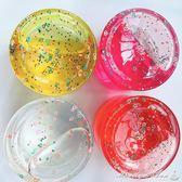 水晶泥 魔法水晶泥大克重桶裝透明鼻涕泥兒童安全無毒彩泥亮片水果史萊姆  瑪麗蓮安