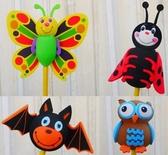 小蝙蝠 花蝴蝶 貓頭鷹 小瓢蟲 超可愛 繽紛色彩 汽車收音機天線球 裝飾天線 天線娃娃 裝飾 造型球