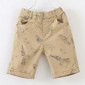 ※現貨 Billgo【M141145】鳥兒休閒短褲-卡其 3-10歲
