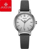 JULIUS 聚利時 經典時刻簡約皮錶帶腕錶-大象灰/29mm 【JA-1070A】