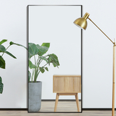 家用穿衣鏡子全身鏡50*150落地鏡試衣鏡可移動服裝店鏡子臥室壁挂牆