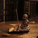 陶瓷復古銅色小和尚香香薰燈爐A132