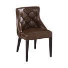 【森可家居】霍華咖啡低背皮鐵藝餐椅 7J...