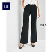 Gap女裝 基本款莫代爾通勤女士寬褲 自然腰長褲女 720190-正黑色