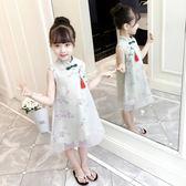 旗袍女童改良旗袍兒童洋氣公主裙寶寶中國風小女孩連身裙~ 九折~