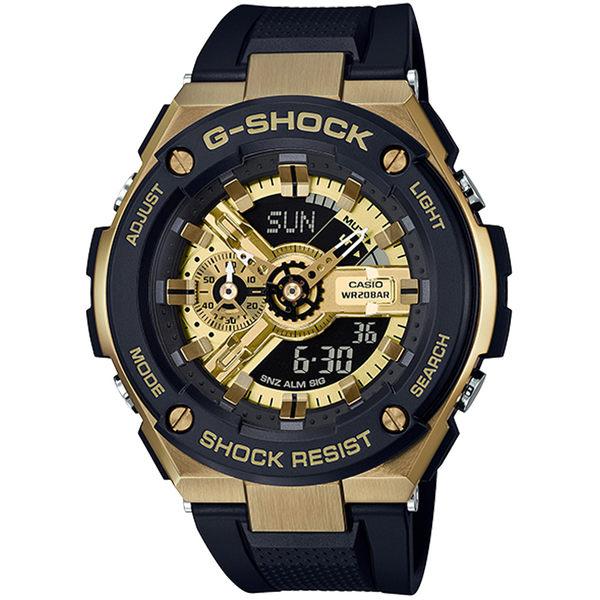 CASIO卡西歐G-SHOCK G-STEEL分層防護構造腕錶  GST-400G-1A9