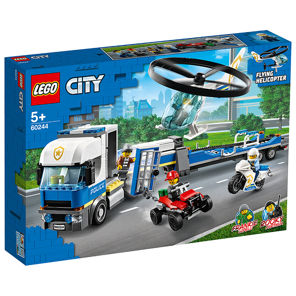 樂高積木 LEGO《 LT60244》City 城市系列 - Police Helicopter Transport╭★ JOYBUS玩具百貨