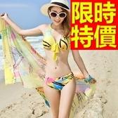泳衣(三件式)-比基尼-音樂祭游泳泡湯必備時髦走秀款3色54g156【時尚巴黎】