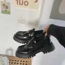 2020秋季新款網紅英倫風軟底樂福鞋女單鞋厚底松糕小皮鞋黑色鞋子 【端午節特惠】