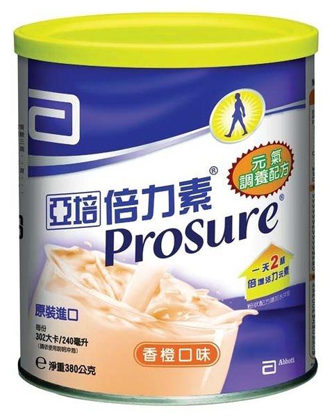 亞培倍力素元氣調養粉狀配方380g 6罐 (香橙口味) *維康*