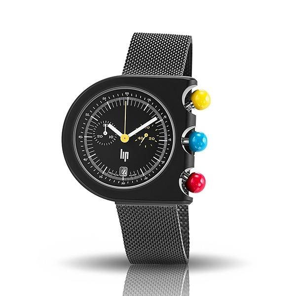 【lip】Mach 2000地鐵設計款時尚米蘭石英腕錶-活潑黑/671085/台灣總代理公司貨享兩年保固