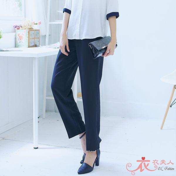 *衣衣夫人OL服飾店*【MY720】台製〞鬆緊褲頭彈性西裝長褲(黑) L-4L號