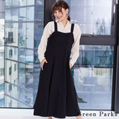 ❖ Winter ❖ 壓線打褶設計背心洋裝 - Green Parks