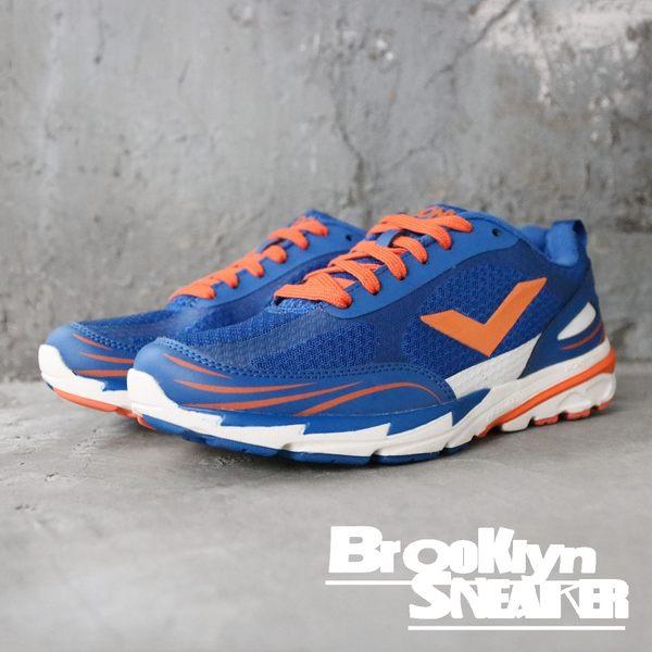 PONY 藍橘 白 輕量 透氣 慢跑鞋 男 (布魯克林) 61M1VE61BL