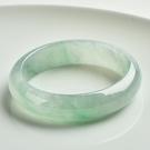 玉鐲 緬甸冰種翡翠手鐲圓條飄綠玉鐲子玻璃種正圈玉冰種單色玉手鐲女款