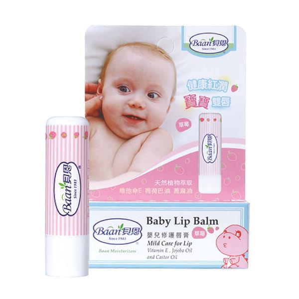 Baan 貝恩 嬰兒修護唇膏-草莓 (22g/條)【杏一】