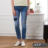 【JEEP】女裝 修身刷色牛仔褲