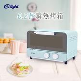 伊德爾ENLight 0.2秒瞬熱電烤箱 WK-530藍色 烤爐烤麵包機【NS108】《約翰家庭百貨