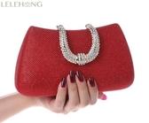 時尚女包手抓包潮小包迷你鏈條包新娘包紅色婚包晚宴包
