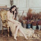 現貨 MIT小中大尺碼新娘婚禮鞋推薦 低跟山楂花女神 21-26 EPRIS艾佩絲-高貴金