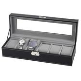 手錶盒子收納盒6格6位手錶盒六只裝錶盒天窗皮革錶箱『艾麗花園』