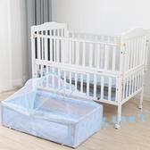 兒童床架 床實木搖籃多功能無漆可移動兒童拼接大床可折疊 星隕閣