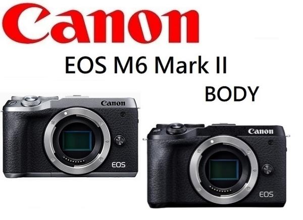 [EYEDC]CANON EOS M6 MARK II BODY 佳能公司貨 (12/24期0利率)