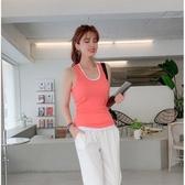 韓模實拍新款工字背心糖果色兩件套顏色可搭配也可單穿.1F131 . T900.1號公館