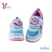 冰雪奇緣2兒童運動鞋 女童慢跑鞋 LED電燈鞋 ELSA艾莎安娜迪士尼 MIT台灣製 Frozen G8163#水藍◆奧森