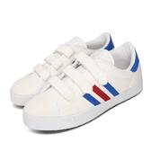 adidas 滑板鞋 Adicourt CF 白 藍 男鞋 基本款 休閒鞋 魔鬼氈 運動鞋 【PUMP306】 F34077
