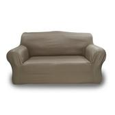 經典格紋彈性沙發罩棕2人