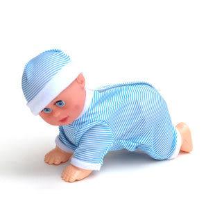 電動爬娃爬行娃娃電動娃娃會哭笑唱歌學爬行叫爸爸媽媽玩具