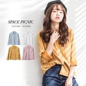 襯衫 Space Picnic|預購.白線直條紋長袖襯衫【001663】